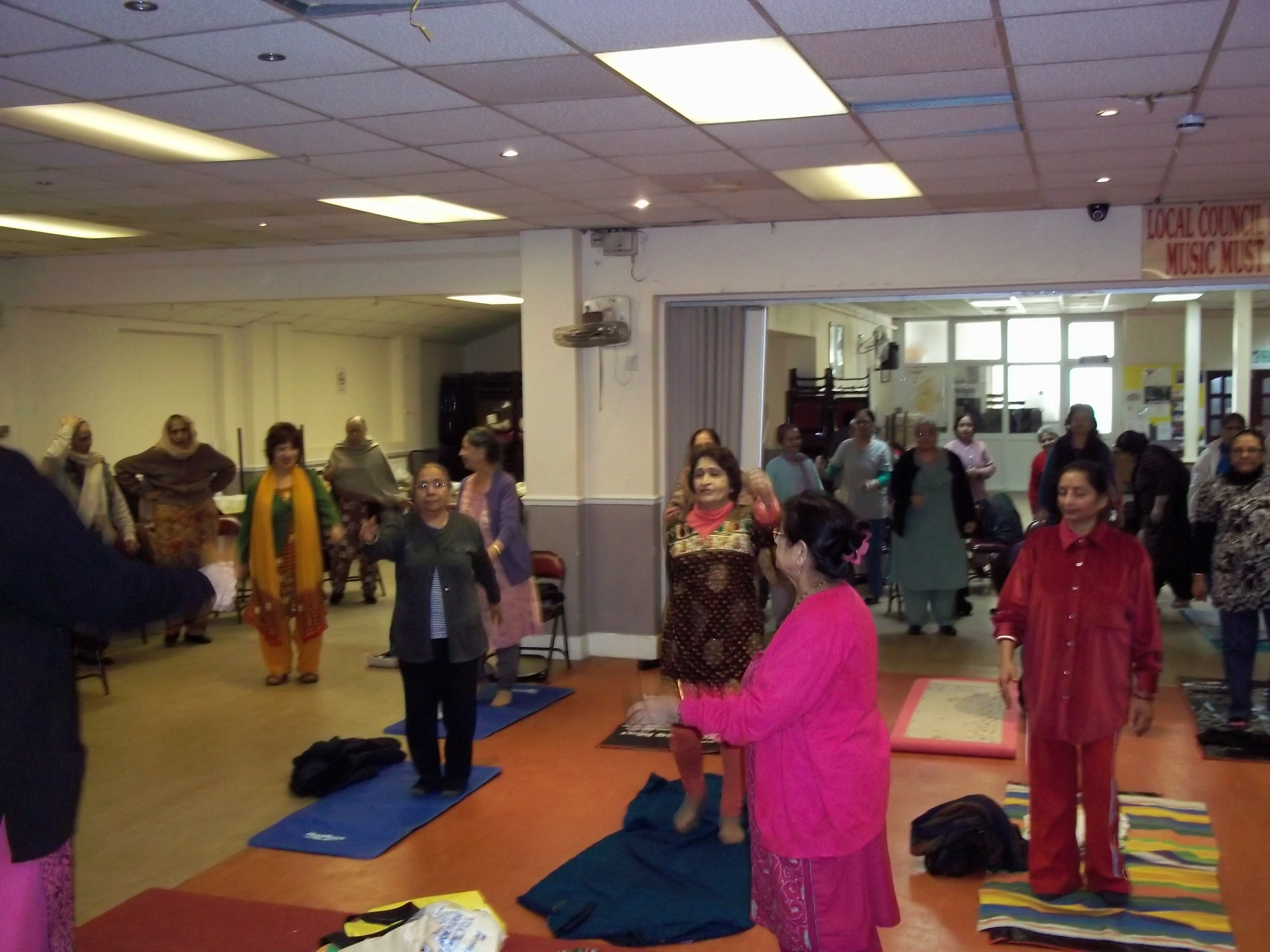 Holi Celebration in Ilford Yog Class on 21st March