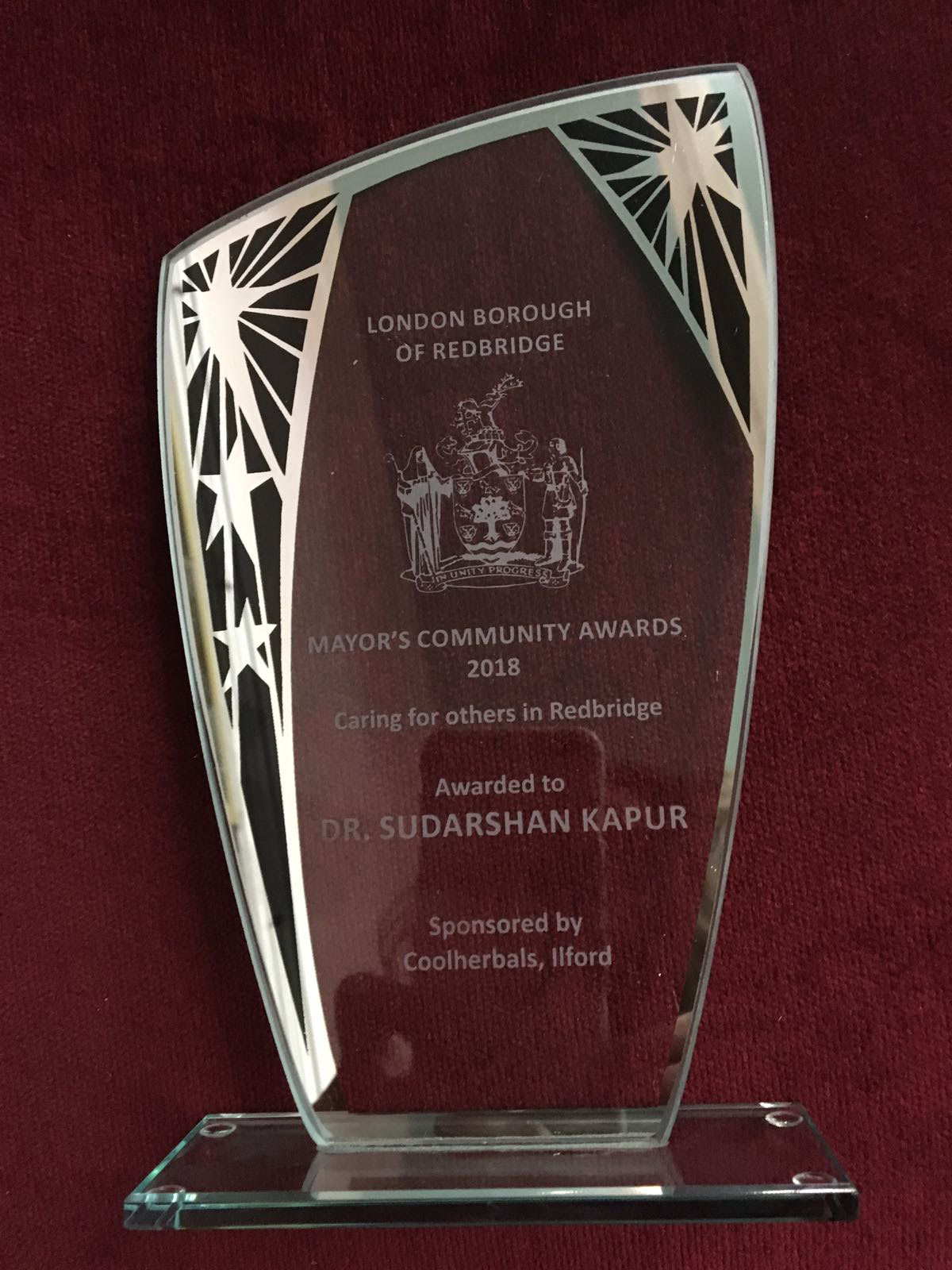Mayor community Award on 22 March 2018 in Town Hall Redbridge