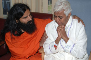 Swamiji with Patient